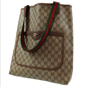 Authentic GUCCI monogram canvas tote/Shoulder bag